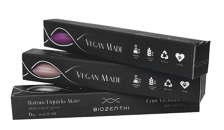 Batom Líquido Vegano Biozenthi 6g - Efeito Mate (Sem Metais Pesados)