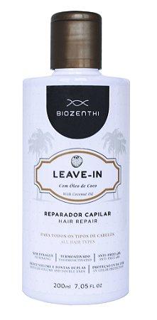 Leave-in Com Oleo de Coco Vegano Biozenthi (creme) - 200ml