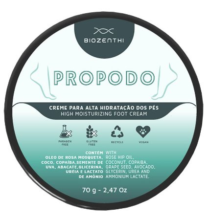Creme Hidratante para os Pés PROPODO Biozenthi - 70g