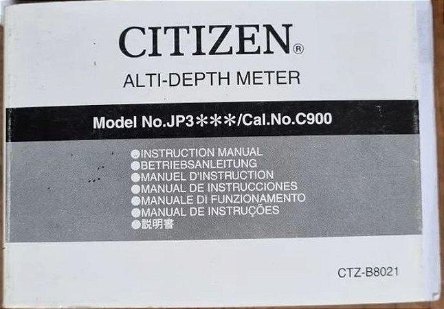 Manual Do Relógio Citizen Jp 3020 3050 C900 Aquamount Aço E Titanium