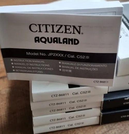 Manual Do Relógio Citizen Aqualand 2000 Jp2004 Relançamento