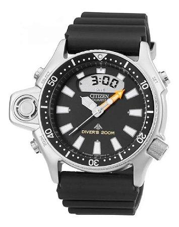 Relógio NOVO SEM USO Citizen Aqualand Série Prata Jp2000-08e Tz10137t (NOVO SEM USO)