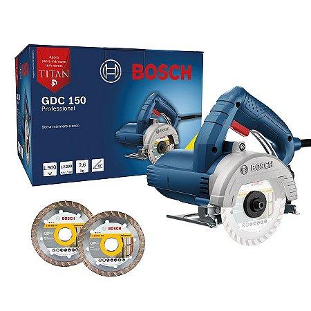 SERRA MARMORE TITAN GDC 150 220V +2 DISCOS - BOSCH
