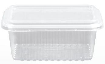 Kit Pote Retangular 500ml - Caixa com 150 unidades