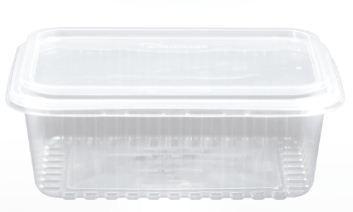 Kit Pote Retangular 1000ml - Caixa com 100 unidades