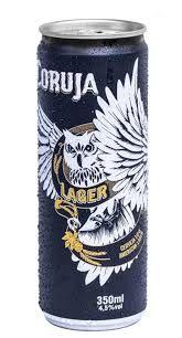 Cerveja Coruja Lager lata 350 ml