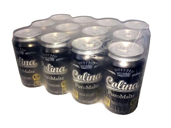 Cerveja Colina Puro Malte Lata 350 ml - Fardo c/12 unidades