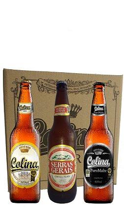 Cerveja Colina  600 ml CX c/12 Mista 4 Pilsen - 4 Serras - 4 Puro Malte
