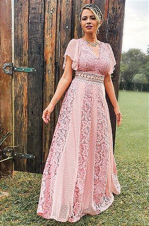 Vestido Rosa, festa, madrinha e noivas