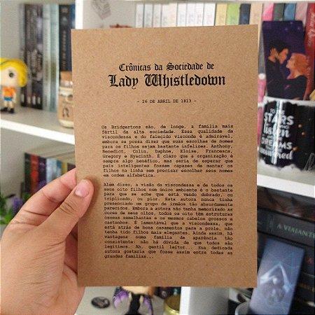 Coluna Lady Whistledown | Os Bridgertons