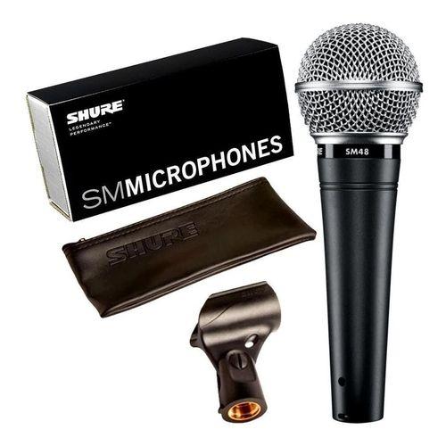 MICROFONE DE MAO DINAMICO SHURE SM48-LC - 2 ANOS DE GARANTIA
