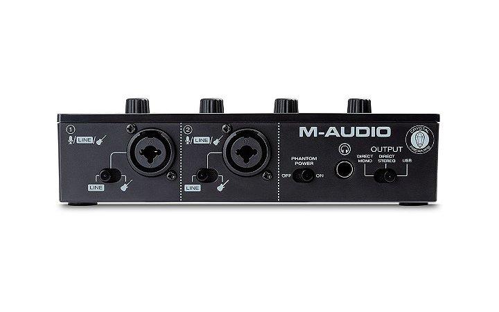 Interface M-audio M-track Duo - 1 Ano de Garantia