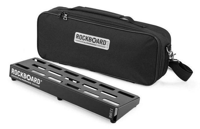 Pedalboard Rockboard Duo 2.1 48x16,6x11,8cm com Gig Bag