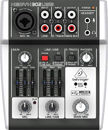 Mixer Xenyx BiVolt - 302USB - Behringer