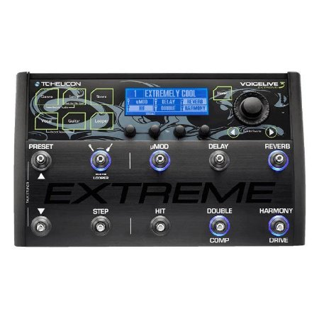 Pedaleira Voz Guitarra E Loop Voicelive 3 Extreme Tc Helicon