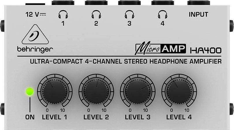 Amplificador de Fones - PowerPlay - HA400 - Behringer