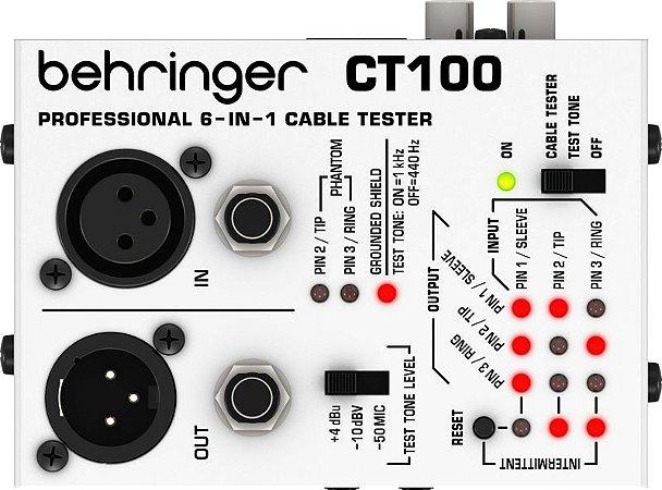 Testador de cabos - CT100 - Behringer