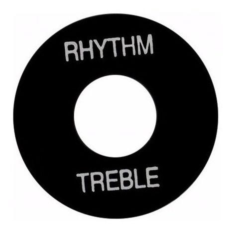 PLACA TREBLE/ RHYTHM GIBSON PRWA 020 - PRETA PRINT BRANCO