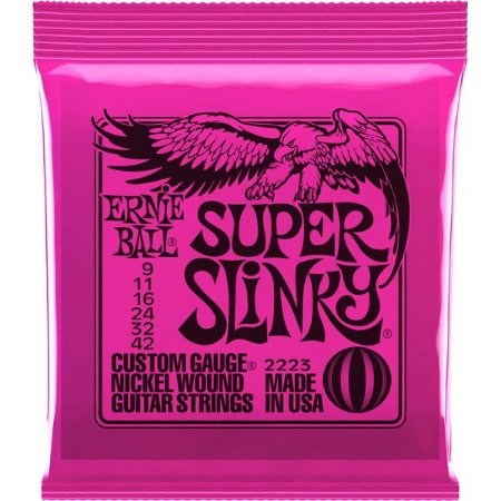 ENCORDOAMENTO GUITARRA ERNIE BALL 09 42 SUPER SLINKY 2223
