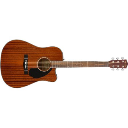 VIOLAO FENDER CD-60 SCE ALL MAHOGANY TAMPO SÓLIDO - FOLK