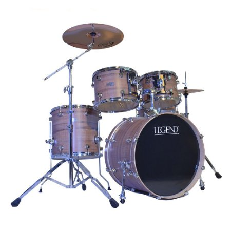 Bateria com 5 pecas Legend - Classic Series 20'' Walnut  - cor walnut