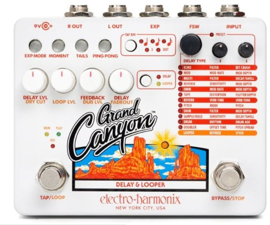 PEDAL ELECTRO-HARMONIX GRAND CANYON DELAY & LOOPER