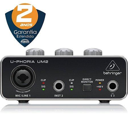 INTERFACE DE AUDIO USB BEHRINGER UM2 - 2 ANOS DE GARANTIA