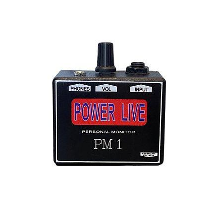 AMPLIFICADOR DE FONE DE OUVIDO POWER LIVE PM1 - NEW LIVE