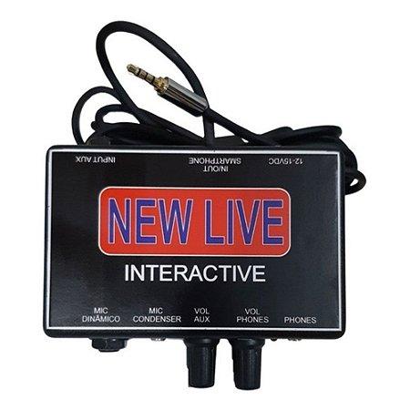 INTERFACE DE AUDIO NEW LIVE INTERACTIVE - 2 CANAIS
