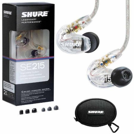FONE DE OUVIDO IN EAR - SHURE - SE215-CL
