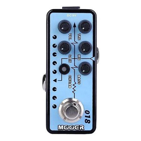 PEDAL MICRO PREAMP PARA GUITARRA MOOER - CUSTOM 100 - M018