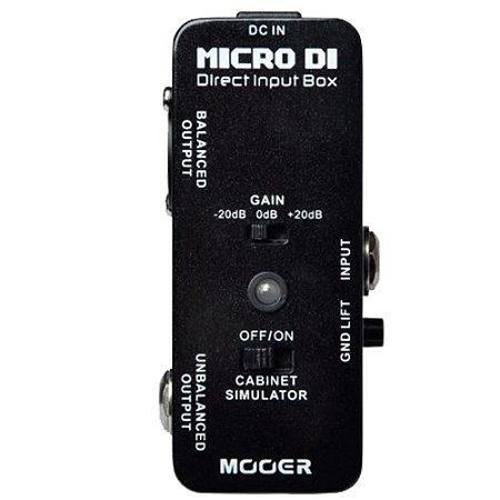 PEDAL PARA GUITARRA MOOER - MICRO DI - DIRECT INPUT BOX