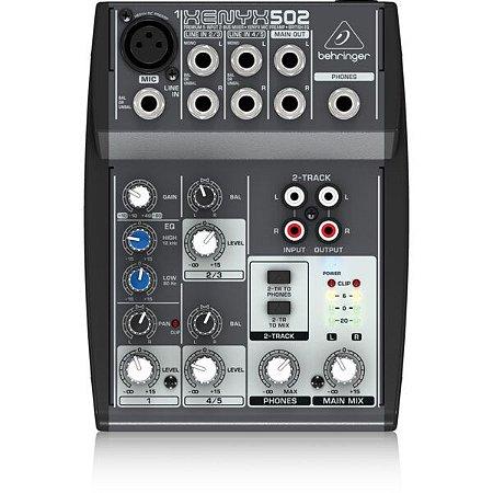 MIXER XENYX 502 - 110V - BEHRINGER - 5 CANAIS