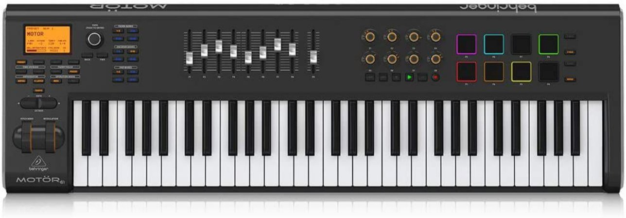 TECLADO CONTROLADOR BEHRINGER - MOTOR 61 MIDI/USB
