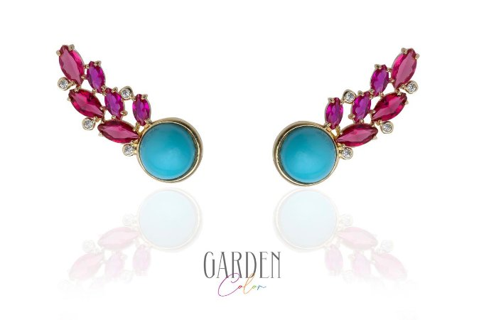 Earcuff Garden Color