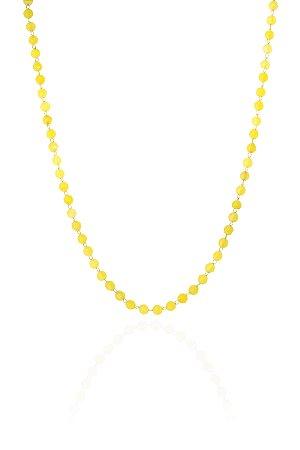 Colar Cristais 60 cm Amarela