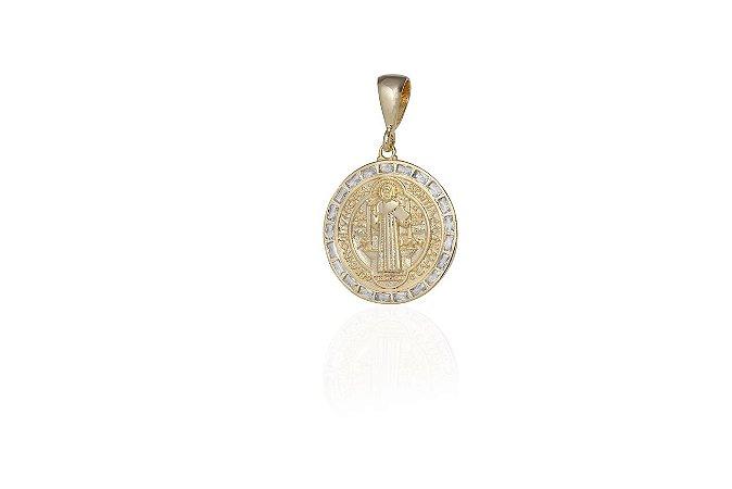 Medalha São Bento Banho Ouro Amarelo