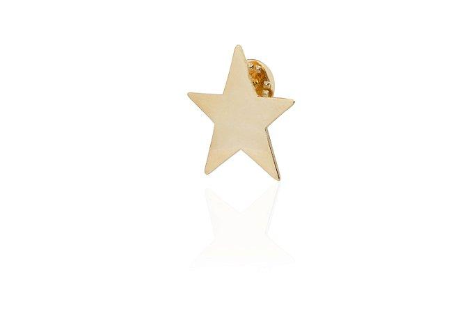 Pin Star G Banho Ouro Amarelo