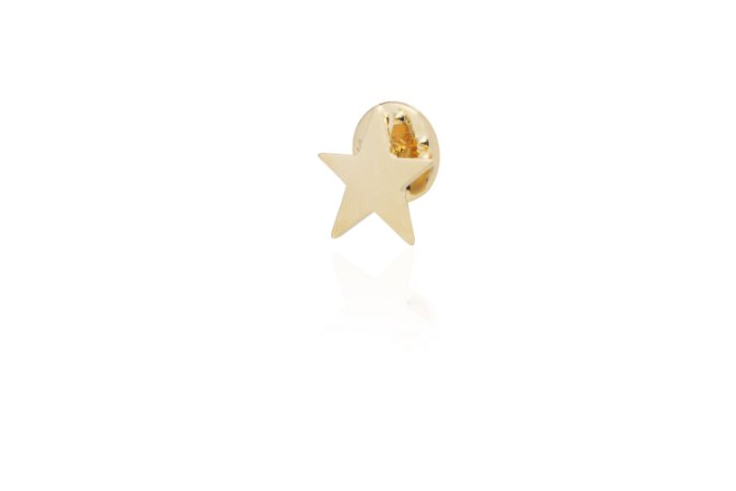 Pin Star P Banho Ouro Amarelo