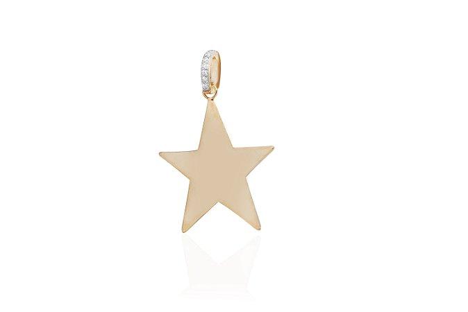 Pingente Star G Banho Ouro Amarelo