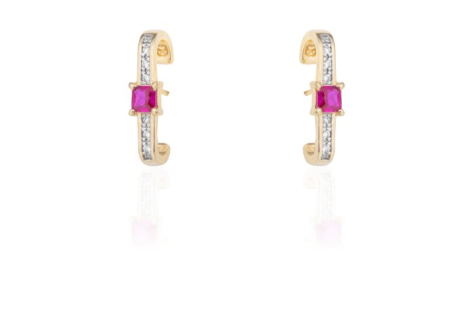 Ear Hook Ouro Amarelo Pink