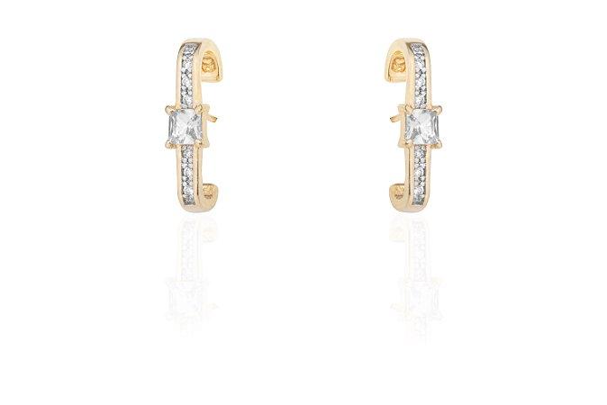 Ear Hook Ouro Amarelo Cristal