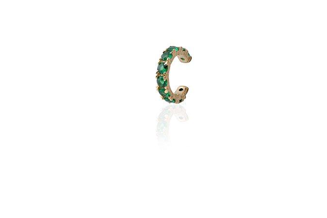 Piercing Zirconia Verde Ouro