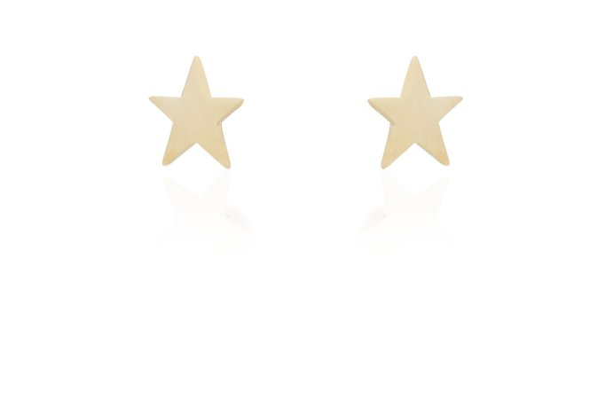 Brinco Estrela P Banho Ouro Amarelo