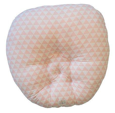 Almofada Arte Criada - Triângulo Rosa