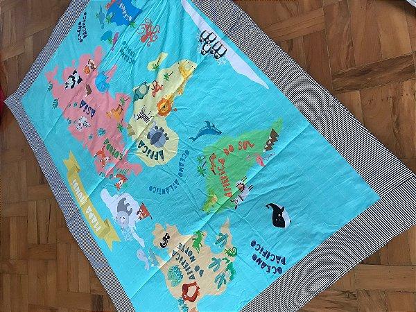 Tapete Arte Criada Mapa Mundi