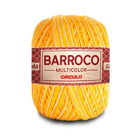Barbante Barroco Multicolor 6 Fios 200g Cor 9368