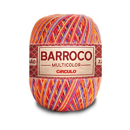 Barbante Barroco Multicolor 6 Fios 200g Cor 9502