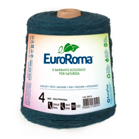 Barbante Euroroma Colorido 4 Fios 600g Cor 902