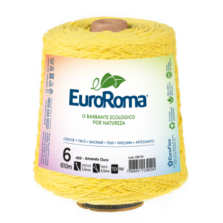 Barbante Euroroma Colorido 6 Fios 600g Cor 450